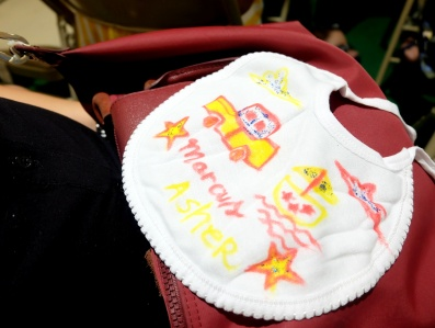 dyosathemomma: Bib making at Baby Company workshop