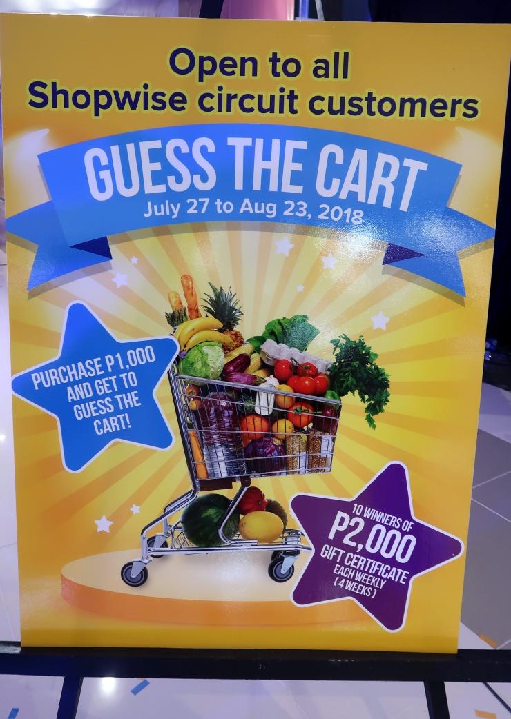 dyosathemomma: Shopwise Circuit Makati, Guess The Cart July-August 2018