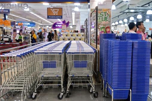 dyosathemomma: Shopwise Circuit Makati, grocery carts and baskets