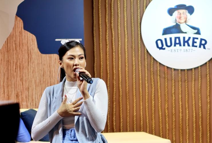 dyosathemomma: #QuakerDeliciousMornings Quaker Oats, mommy blogger ph, Alex Gonzaga