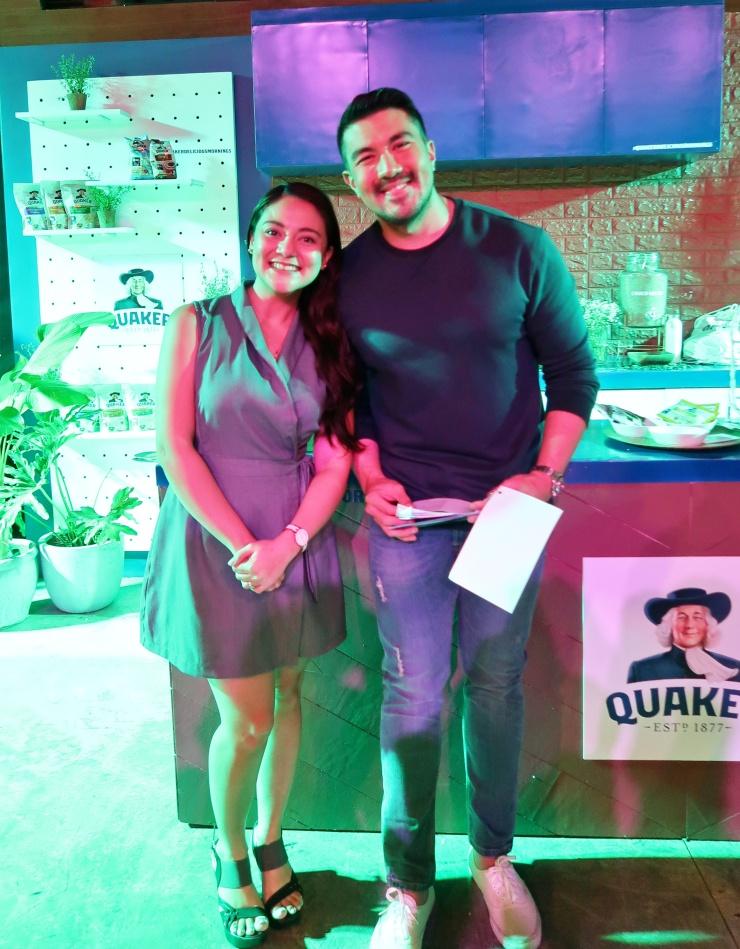 dyosathemomma: #QuakerDeliciousMornings Quaker Oats, mommy blogger ph, Alex Gonzaga, Luis Manzano